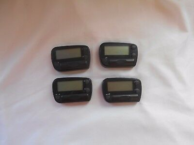 Obsolete MINI Job LOT of FOUR 4 x PAGERS by SEDGEWALL Communications UNTESTED