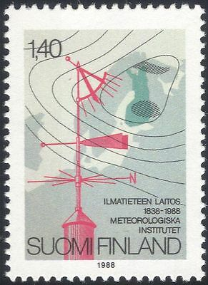 Finland 1988 Weather Chart/Vane/Meteorological Institute/Meteorology 1v n19580k