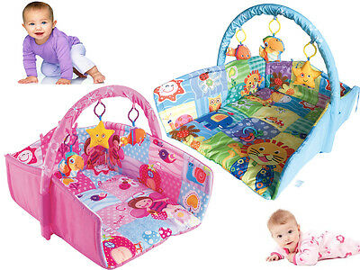 New Kids Baby Colourful Multi Play Activity Gym Soft Playmat Basket Hanging Toys