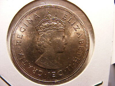 Bermuda Sterling Silver 1 Crown, 1959, 350th Anniversary - Colony Founding, UNC