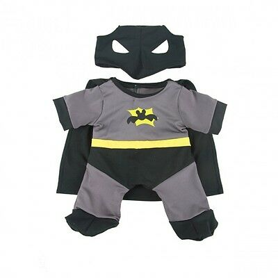 """Caped Crusader Bat Bear outfit teddy clothes to fit 15"""" Build a Bear"""