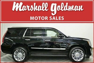 2016 Cadillac Escalade Platinum Sport Utility 4-Door 2016 Escalade Platinum  Black Raven with Tuscan Brown leather only 17,500 miles