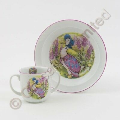 Beatrix Potter Jemima Puddleduck China Bowl & Mug Baby Gift Set