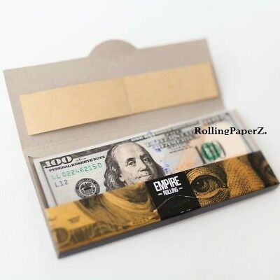 Empire $100 Dollar Bill Rolling Papers 1 Wallet (10 Sheets +10 Free Filter Tips)