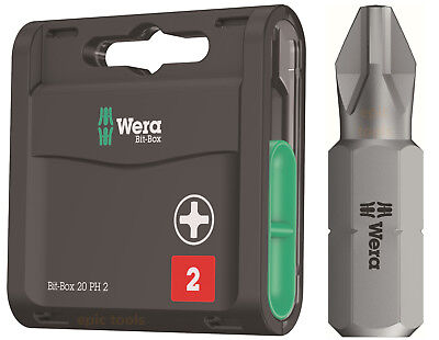 Wera 20 Universel Phillips 2 (PH2) 25mm,Perceuse Embouts de Tournevis &