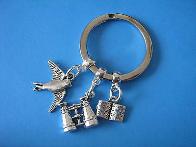 Bird Watching Keyring Birdwatcher Keychain Birdwatching Gift Binoculars Charm