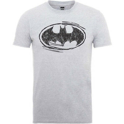 Batman T Shirt DC Comics Mens Sketch Batman Logo Official S,M,L,XL Free P+P