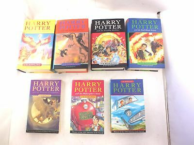 7X HARRY POTTER Books Including 4X 1st Editions By J.K. ROWLING - P21