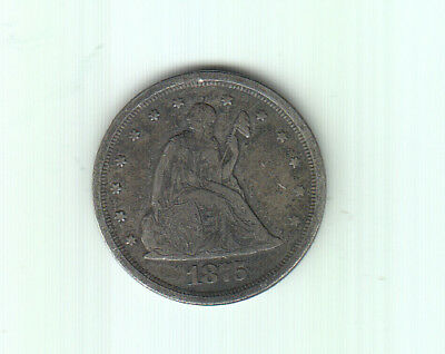 1875S Usa Silver 20 Cents
