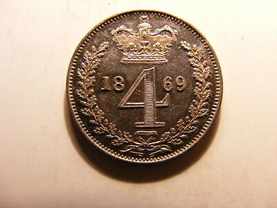 Great Britain 4 Pence, Groat, 1869, P/L Unc with some tone, Mintage 4,158