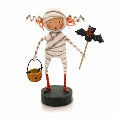 Lori Mitchell MINNIE MUMMY Polyresin Bat Pumpkin Halloween 11051