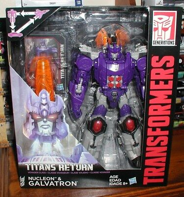 Transformers Titans Return Galvatron/nucleon Action Figures,voyager Class New