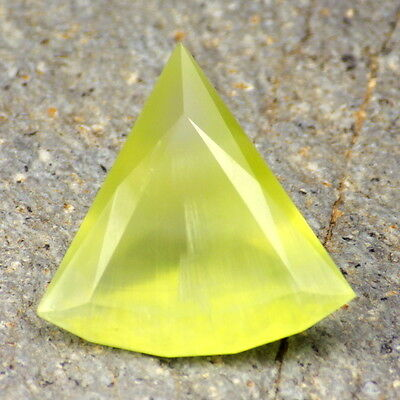 PREHNITE-AUSTRALIA 18.0Ct SEMI TRANSPARENT WITH SILK-BEAUTIFUL COLOR-RARE!