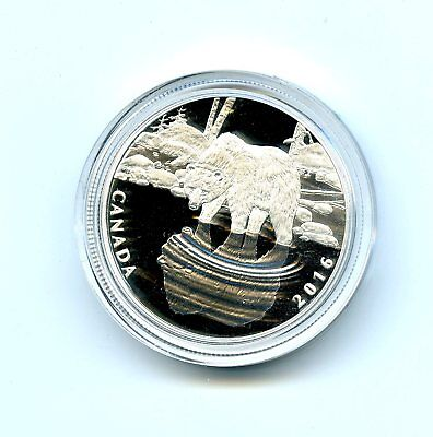 2016 $10 Canada 1/2 Ounce Silver Proof Grizzly Bear In Plastic Capsule