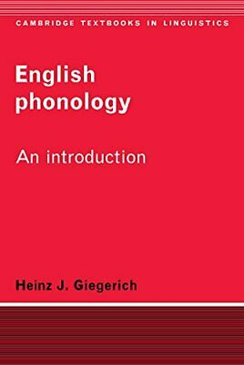 English Phonology 1ed: An Introduction (Camb... by Giegerich, Heinz J. Paperback