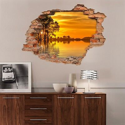 3D Lake Sunset 2342 Wall Murals Wall Stickers Decal Breakthrough AJ WALLPAPER AU