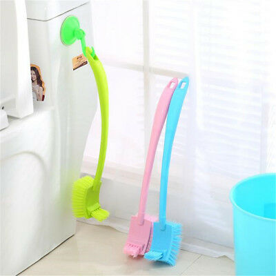 Long Handle Bathroom Scrub Double Sided Cleaning Brush Double Toilet Brushs
