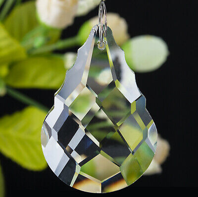 1 Clear Crystal Chandelier Lamp Part Prism Drop Hanging Pendant Suncatcher 50MM