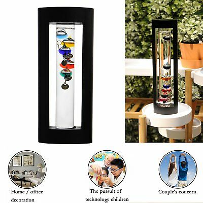 Hot Sale Large Blown Glass Cylindrical Galileo Thermometer Temperature Indicator