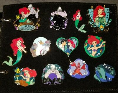 Lot Of 12 Disney Collectible Pin The Little Mermaid 25Th Anniversary Ariel