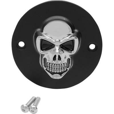 DS 3D Skull Points Cover Black w/Chrome Skull Harley XL1200N Nightster 07-12