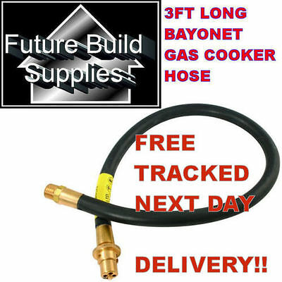 """Universal Gas Oven Cooker 3Ft X 1/2"""" Thread Natural Gas Ng Hose Bayonet Only"""