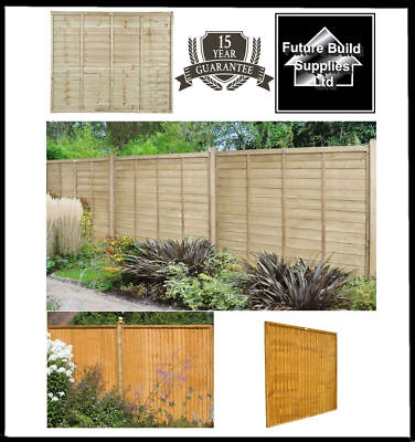 Wooden Lap Fence Panels Overlap Fencing Panel 6ft 5ft 4ft 3ft 15yr Guarantee!