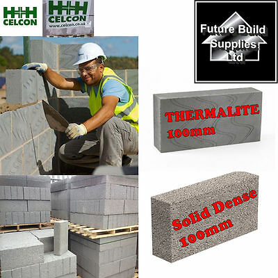 Celcon/thermalite 100Mm Concrete Blocks 100Mm 7N Dense Building Blocks - 7.2M2