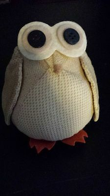 COLLINS Stuffed Owl-5 inches high by 4 inches wide-polyester fiber