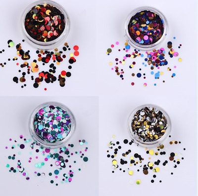 Chunky Mixed Glitter Face Eye Body Tattoos Nail Art Manicure Tips 3D Decorations