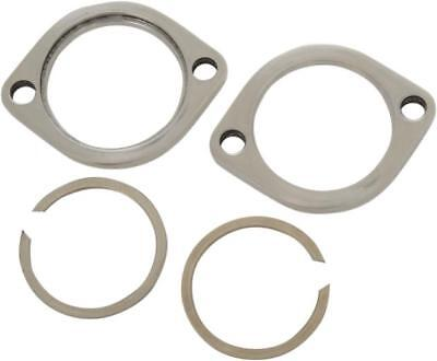 DS Exhaust Flange Kit Stainless Steel Polished Harley FLHR 1994