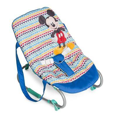 Hauck Disney Rocky Bouncer (Mickey Geo Blue) Comfy and Adjustable
