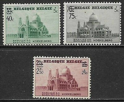 BELGIUM 1938 Surcharges Set of 3 SG 828-830 MH/*