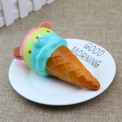 Giant 14.5CM Colossal Squishy Bear Ice Cream Scented Slow Rising Toys Phone Hot