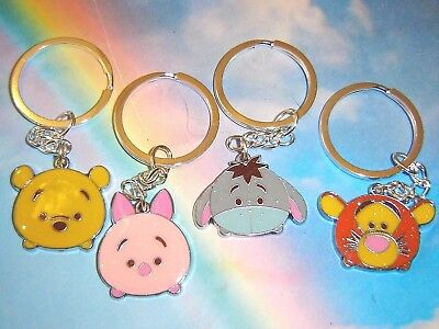 Winnie The Pooh Character Tsum Tsum Keyring Piglet Eyeore Tigger In Gift Bag