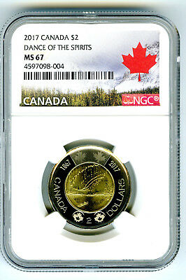 2017 Canada $2 Toonie Ngc Ms67 Dance Of Spirits 150Th Anniv Two Dollar Coin