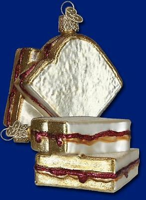 Old World Christmas Peanut Butter and Jelly Sandwich Ornament 32157 FREE BOX New