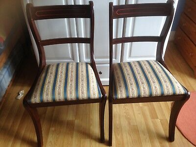 Two Reproduction Mahogany Chairs.