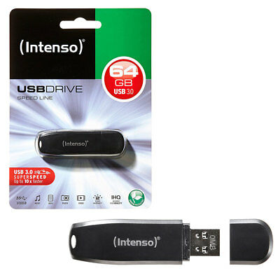 64GB Intenso Speed Line USB 3.0 Flash Drive USB 3.0 Memory Stick 64GB NEW PACK