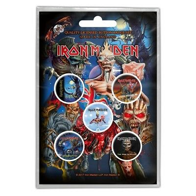 IRON MAIDEN - OFFICIAL BADGE SET BUTTON-SET Later albums