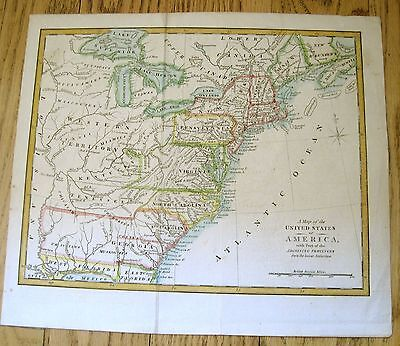 """C1794 """"A Map of the United States of America, w Part of the Adjoining Provinces"""""""