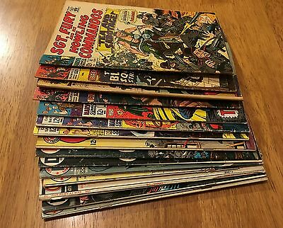 WAR 15 BK LOT Captain Savage,Sgt Fury,GI Combat,Our Army At War,Star Spangled++1