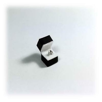 Miniature Dollhouse 1:12 Scale Engagement Solitaire Ring In Box - 001