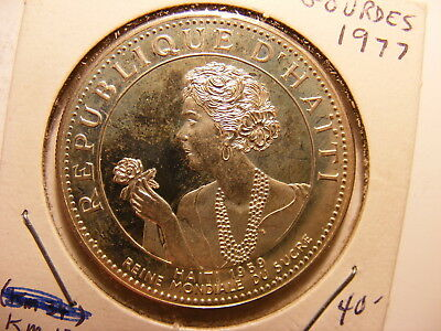 Haiti 50 Gourdes, 1977, Silver Proof with tone present