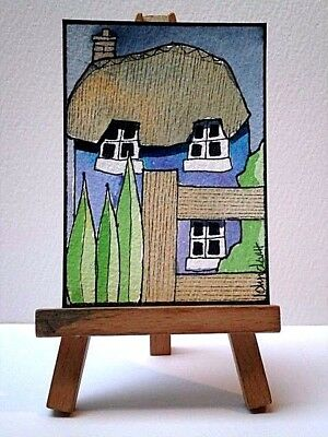 Original Watercolour Painting ACEO - The Night Garden