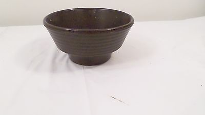 Vintage Brown Ribbed Art Pottery Planter Bowl Made in Germany