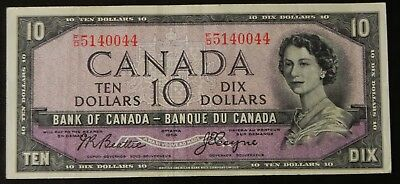 Scarce 1954 Bank of Canada $10 Note Coyne/Towers Devil's Face