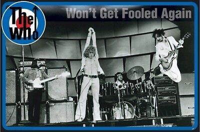 THE WHO ~ WON'T GET FOOLED AGAIN 24x36 MUSIC POSTER Pete Townshend Roger Daltrey