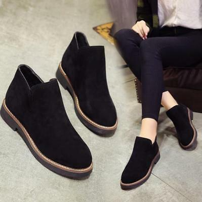 9ccabe9362af7 FASHION WOMEN'S Pull On Chelsea Suede Chukka Short Flat Ankle Boots Shoes -  $8.59 | PicClick