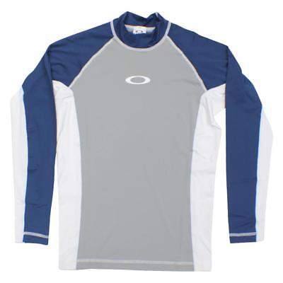 Oakley REFLECTOR LS Grey Size Large Rashie Long Sleeve Mens Boys Swim Rash Vest